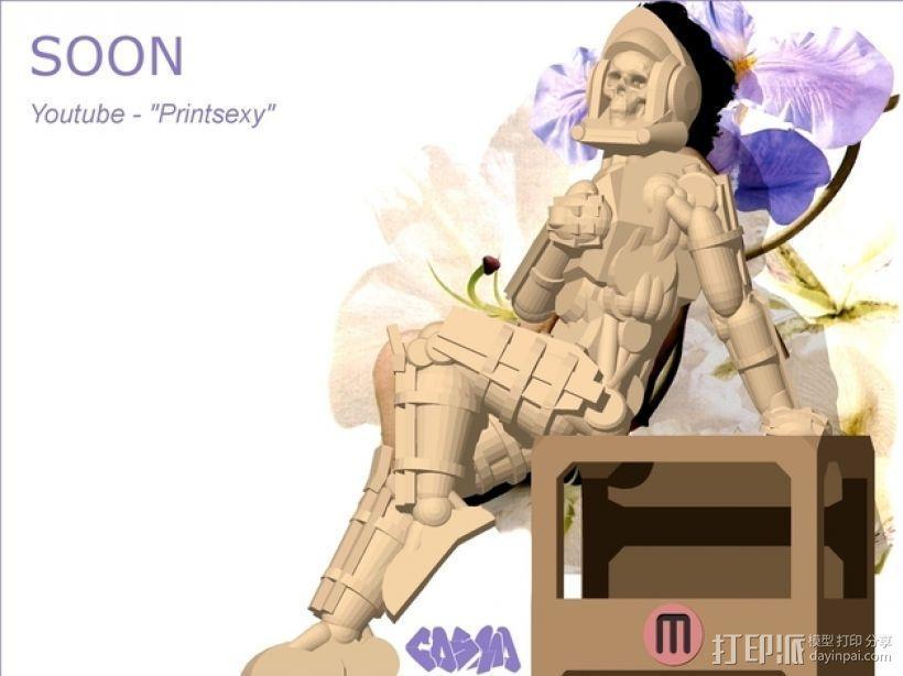 骷髅头钢铁战士 3D模型  图17
