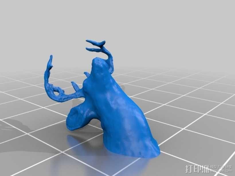 鹿头 3D模型  图1