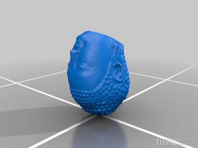 大佛头像 3D模型  图2