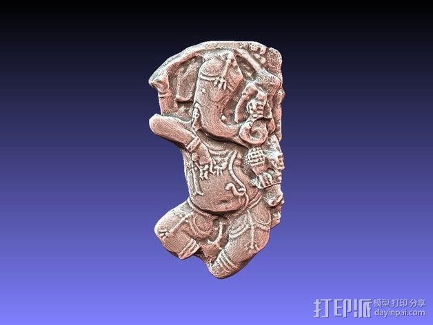 象头神格涅沙 3D模型  图2