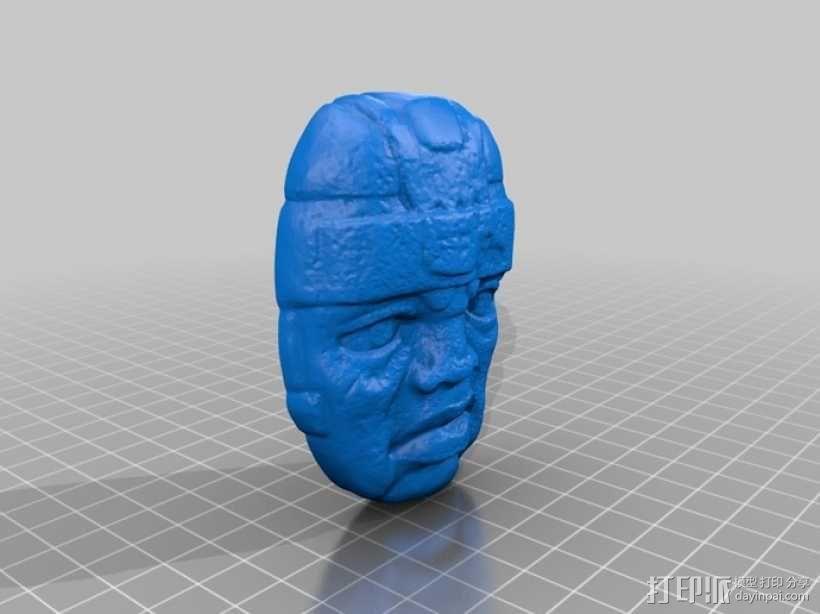 奥尔梅克巨石头像 3D模型  图1
