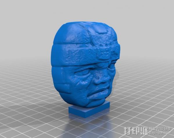 奥尔梅克巨石头像 3D模型  图4