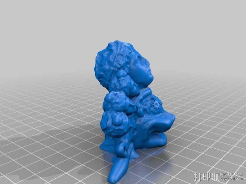 影响 3D模型  图1