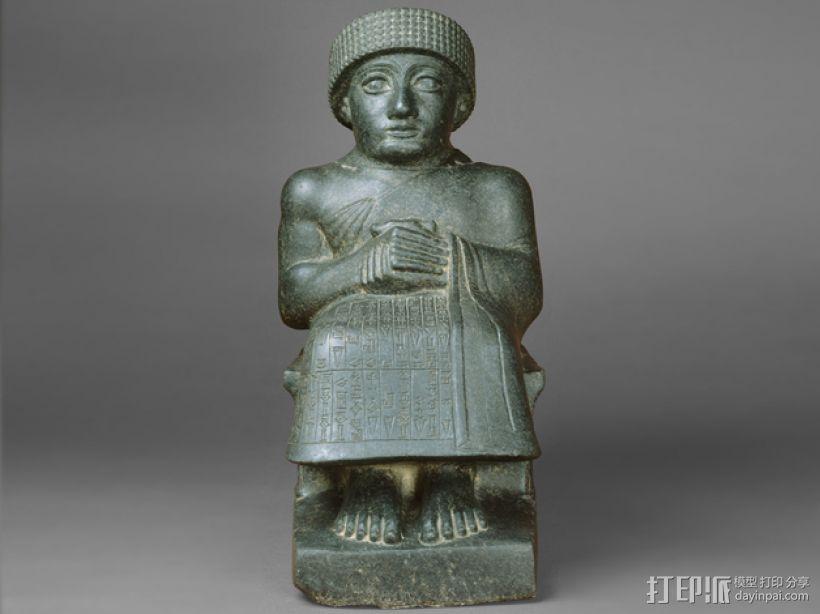 苏美尔人雕像模型 3D模型  图1