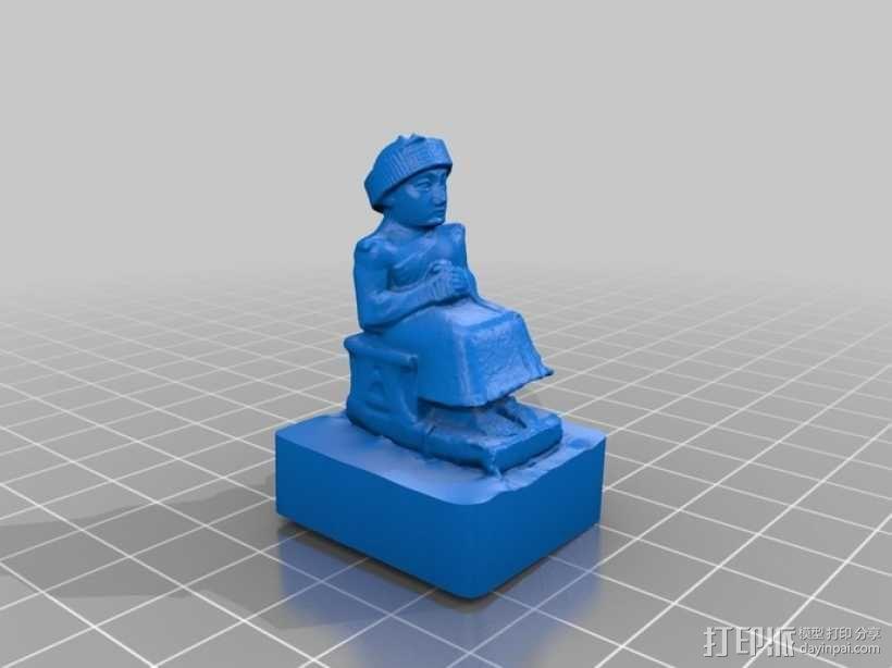 苏美尔人雕像模型 3D模型  图2