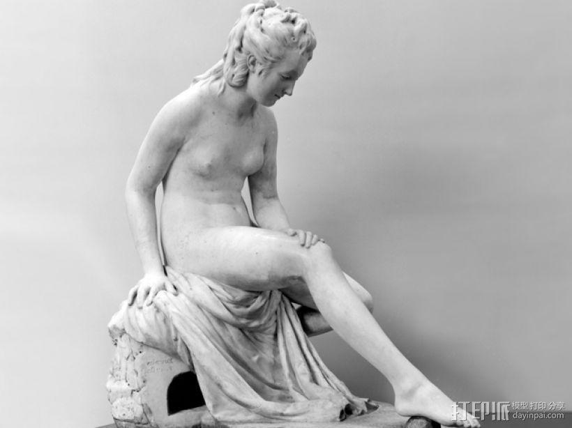 出浴者 雕塑模型 3D模型  图1