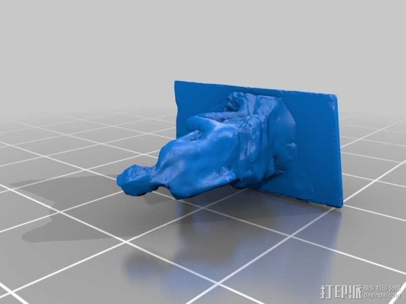 出浴者 雕塑模型 3D模型  图2