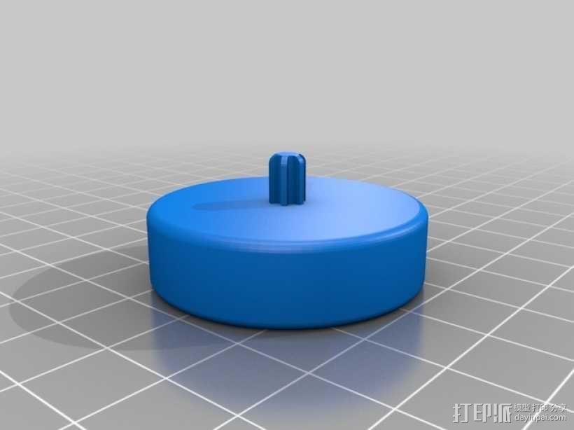 水瓶盖相机架 3D模型  图1