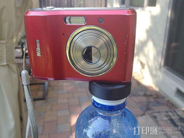 水瓶盖相机架 3D模型  图4