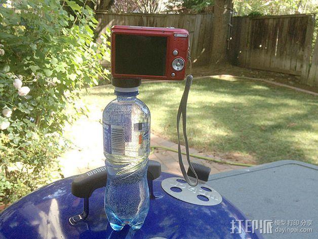 水瓶盖相机架 3D模型  图3