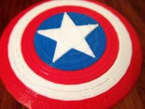 美国队长盾牌徽章 3D模型