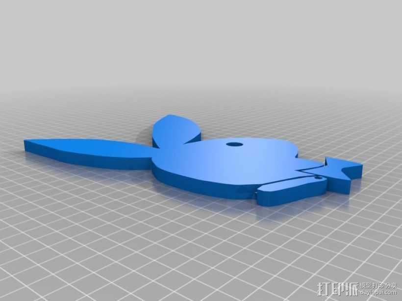 花花公子标志 3D模型  图1