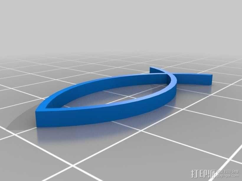 水生动物标志 鱼 螃蟹 3D模型  图1