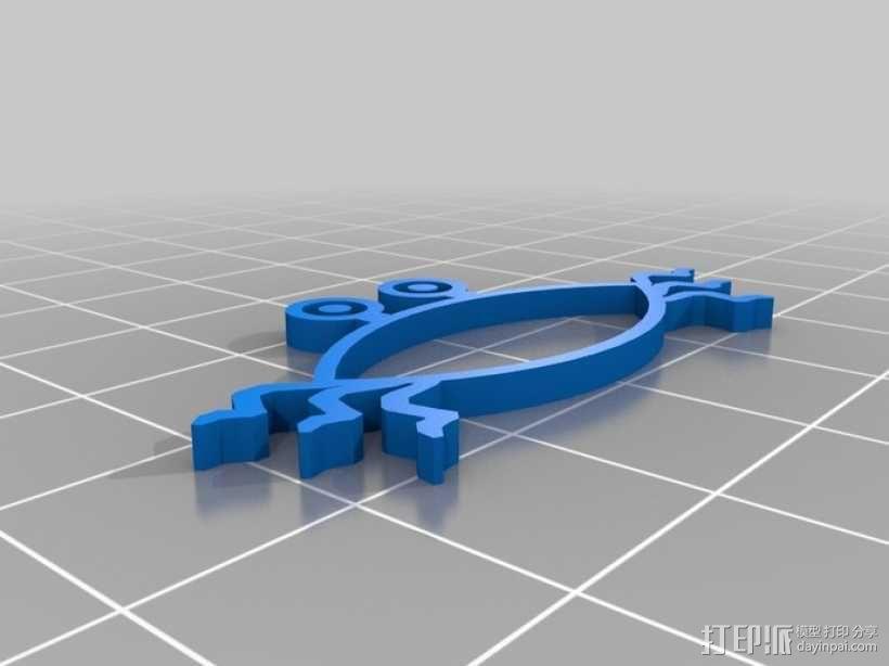 水生动物标志 鱼 螃蟹 3D模型  图3