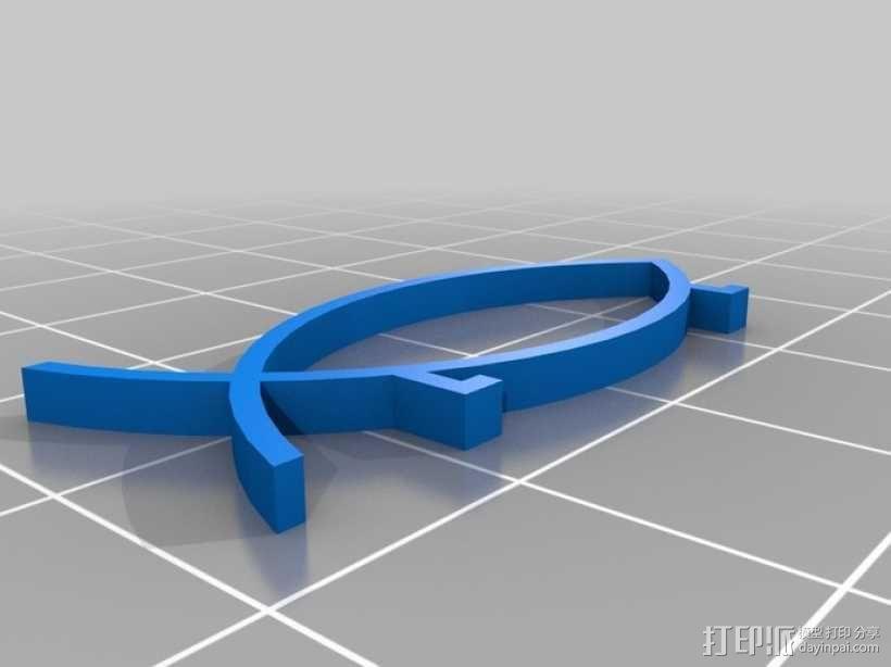 水生动物标志 鱼 螃蟹 3D模型  图2