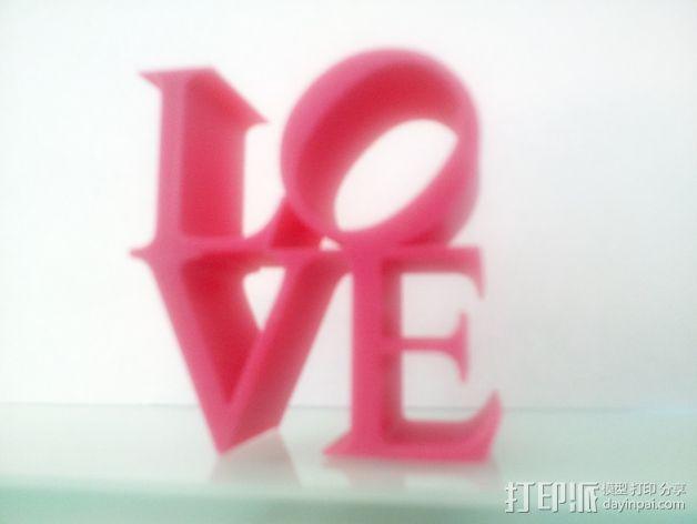 LOVE字母模型 3D模型  图2