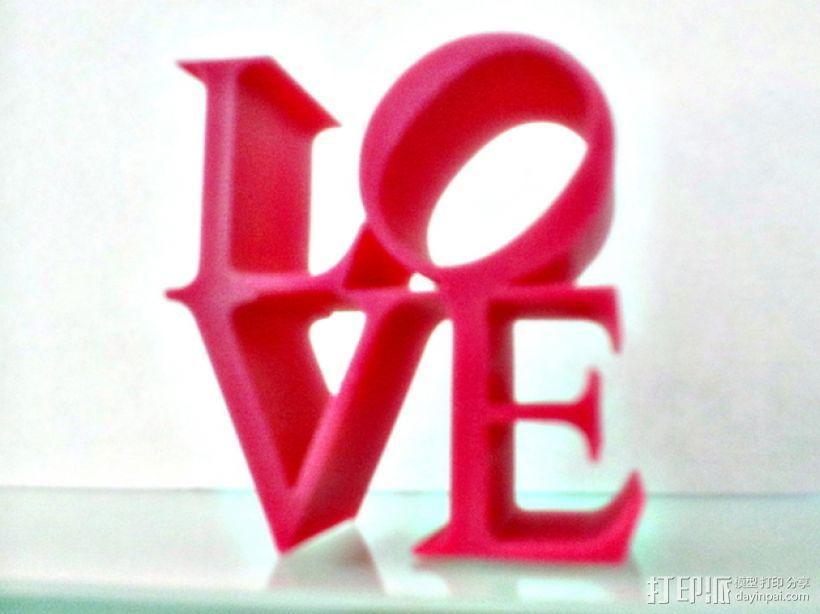 LOVE字母模型 3D模型  图3