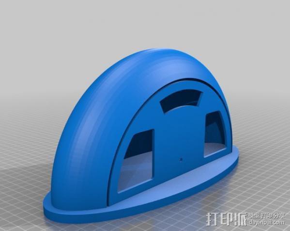 收音机外壳  3D模型  图2