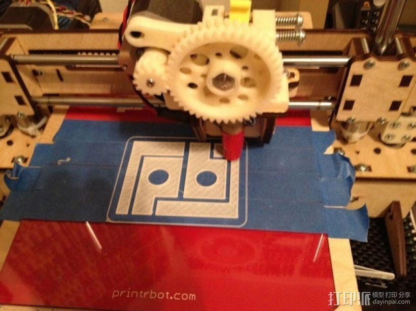 PB字母标志 3D模型  图1
