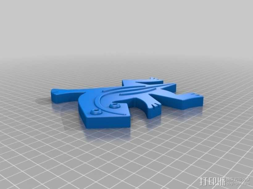 埃舍尔蜥蜴模型 3D模型  图1