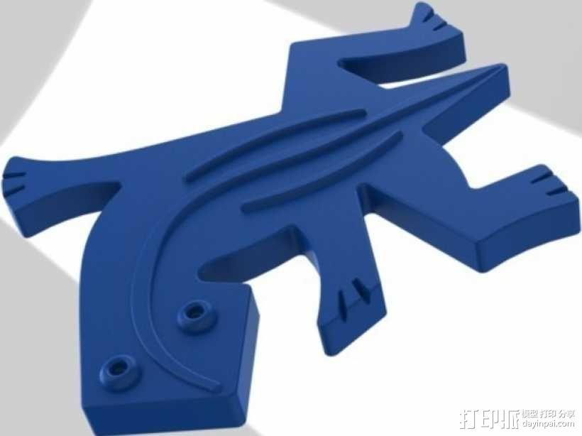 埃舍尔蜥蜴模型 3D模型  图2