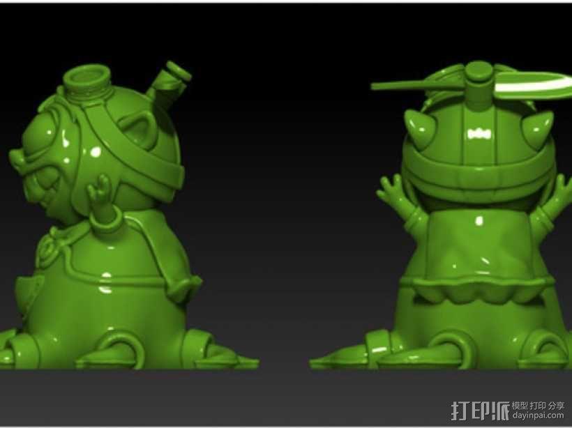 宠物怪兽 Pipsquid 3D模型  图4