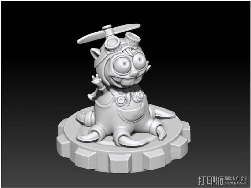 宠物怪兽 Pipsquid 3D模型  图3