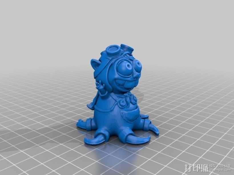 宠物怪兽 Pipsquid 3D模型  图6