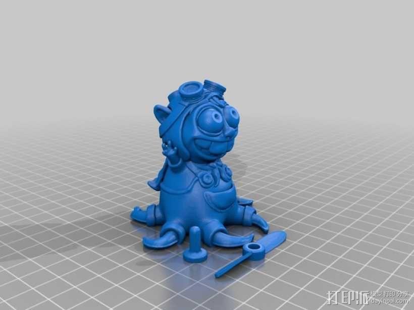 宠物怪兽 Pipsquid 3D模型  图9