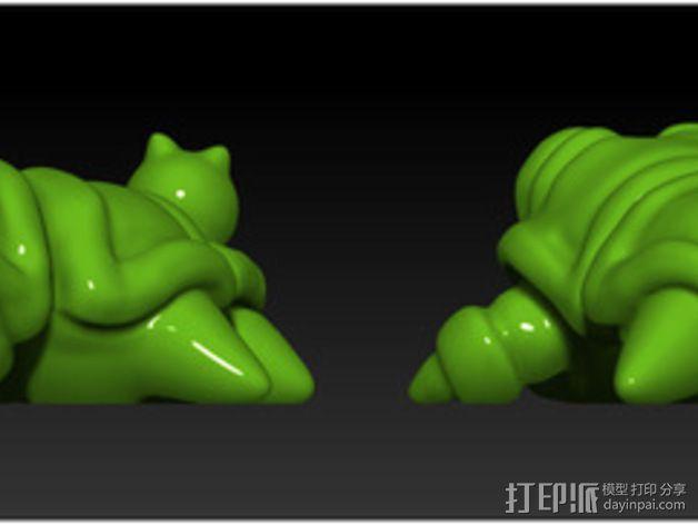口袋妖怪 Munchy模型 3D模型  图4