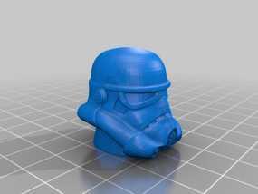 帝国风暴兵 头盔 3D模型