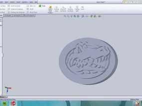 弗罗里达短吻鳄标志 3D模型