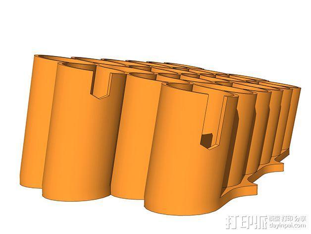 霹雳马马克笔笔架 3D模型  图3