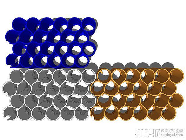 霹雳马马克笔笔架 3D模型  图5