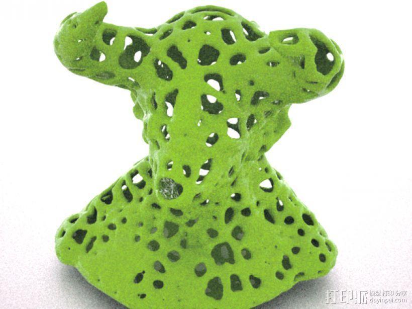泰森多边形公牛模型 3D模型  图1