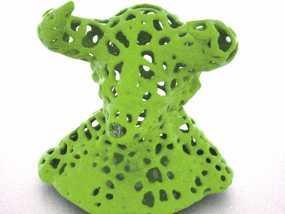 泰森多边形公牛模型 3D模型