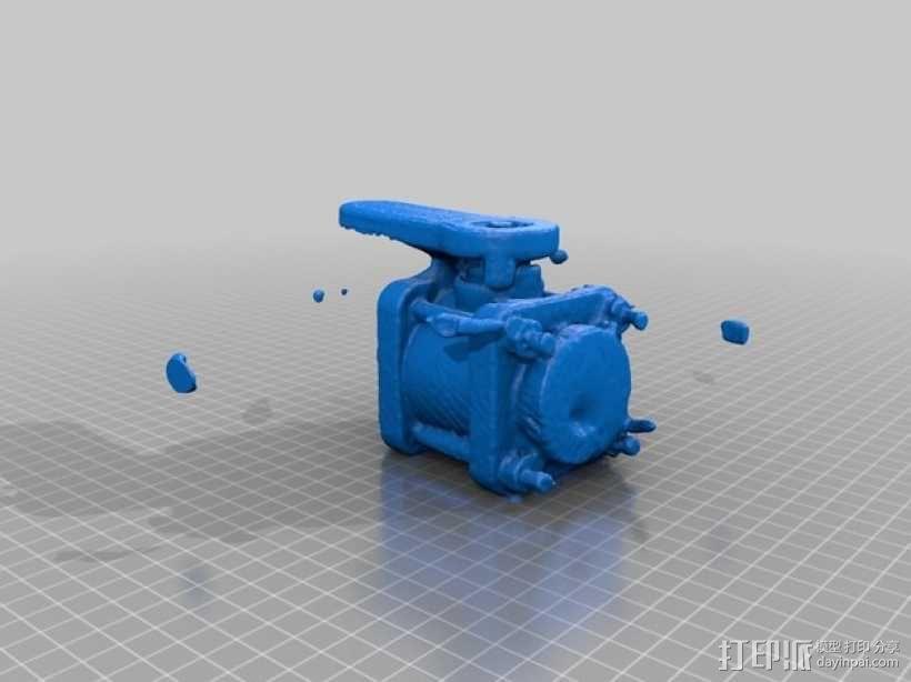 阀门模型 3D模型  图2