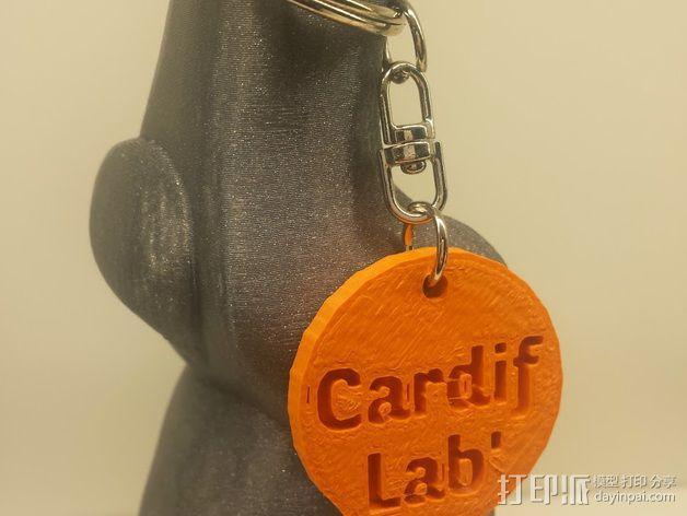 Cardif Lab钥匙扣 3D模型  图1