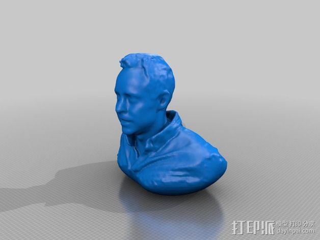 人像雕塑 半身像模型 3D模型  图3