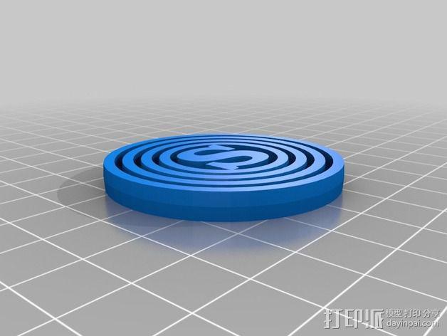 字母平衡环  3D模型  图1