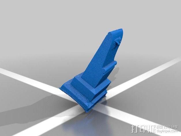 Anna Clara的墓碑模型 3D模型  图2