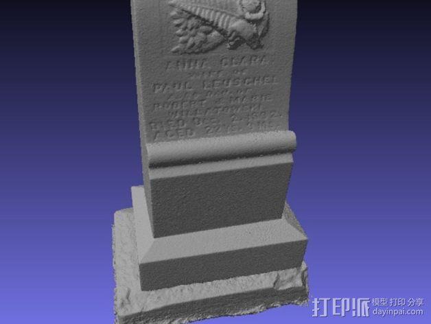 Anna Clara的墓碑模型 3D模型  图3