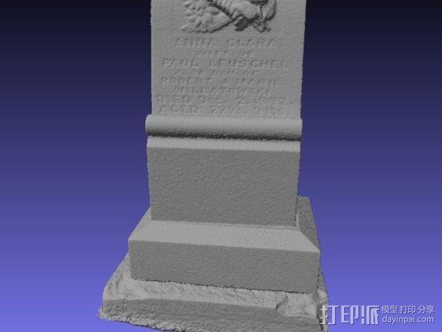 Anna Clara的墓碑模型 3D模型  图4