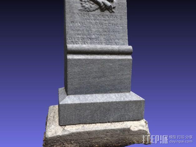 Anna Clara的墓碑模型 3D模型  图7