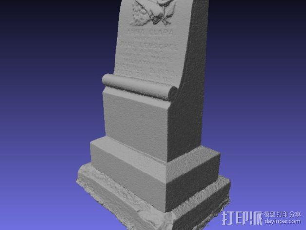 Anna Clara的墓碑模型 3D模型  图5