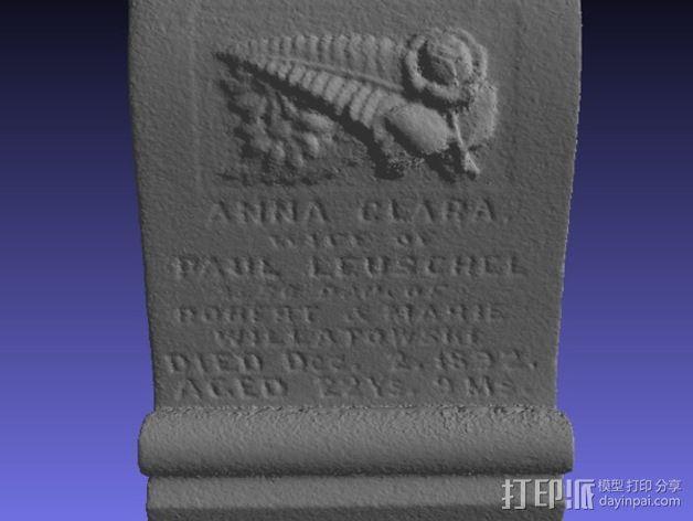 Anna Clara的墓碑模型 3D模型  图6