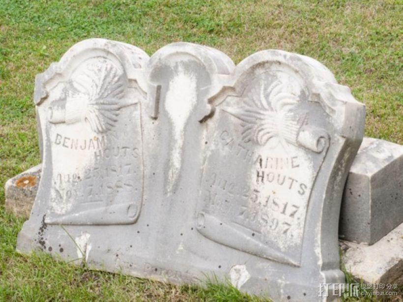 Hout Parents的墓碑模型 3D模型  图1