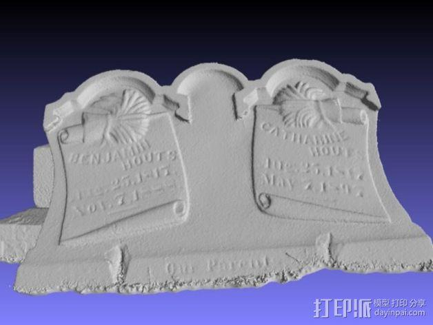 Hout Parents的墓碑模型 3D模型  图3