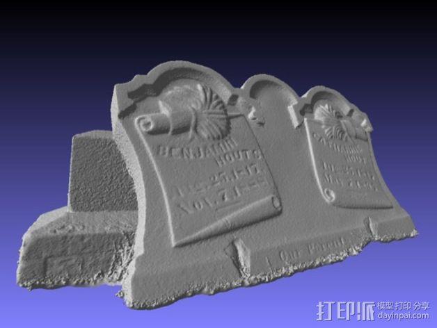 Hout Parents的墓碑模型 3D模型  图4