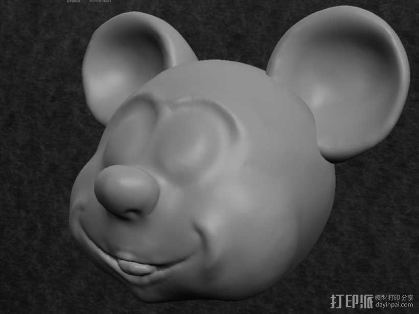 米奇头像模型 3D模型  图1